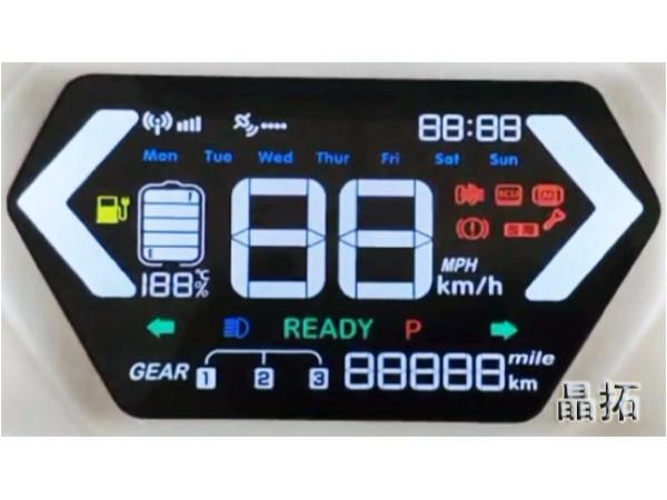 VA彩屏液晶屏应用于电动车仪表