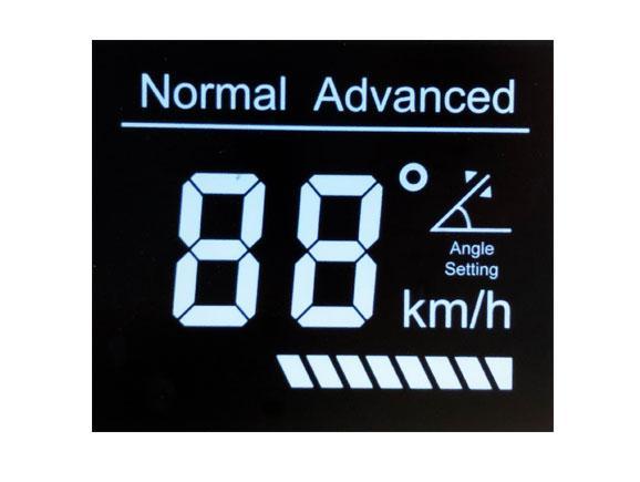 VA黑底白字助力车控制器液晶屏