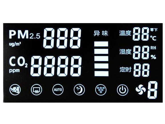 VA黑底白字家用空气净化器液晶屏