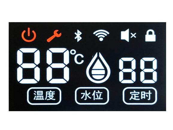 VA黑底白字加一色丝印水暖毯液晶屏