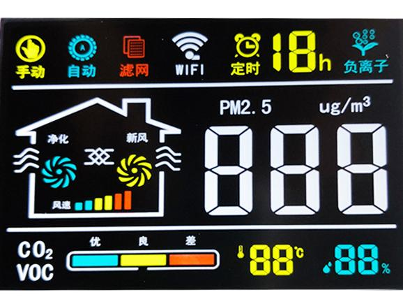 VA屏加彩色丝印家用空气净化器液晶屏