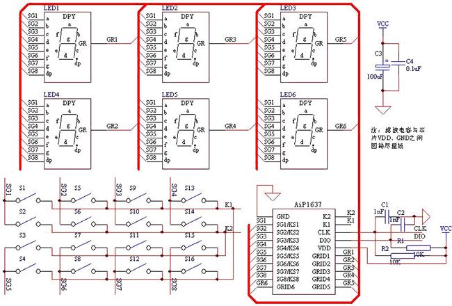 AiP1637主要应用